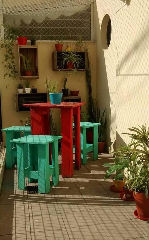 Jardines de invierno de estilo rústico por Pequeños Proyectos