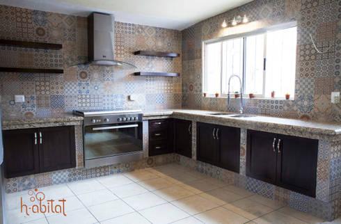 Cocina moderna con azulejo vintage de h abitat dise o interiores homify - Azulejos para cocinas modernas ...