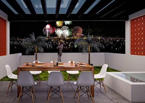 Terraza: Terrazas de estilo  por LOFT ESTUDIO arquitectura y diseño