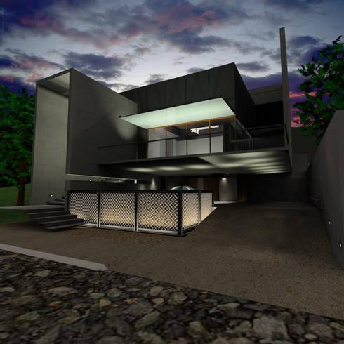 Casa Gonzalez: Casas de estilo minimalista por Atelier X