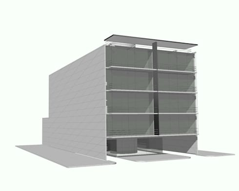 Edificio de departamentos en la Condesa: Casas de estilo minimalista por Atelier X