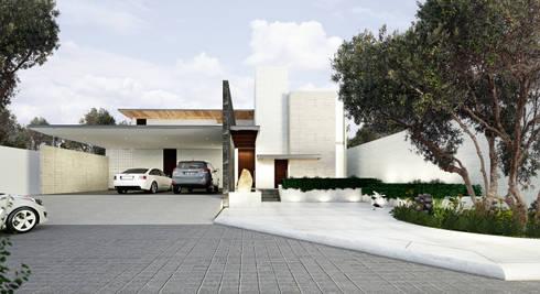 Fachada principal: Casas de estilo moderno por OTRA ARQUITECTURA