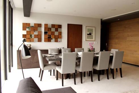 Departamento GD: Comedores de estilo moderno por Concepto Taller de Arquitectura