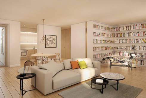 Imagem da Sala - zona de estar: Salas de estar modernas por Pedro Serrazina Studio