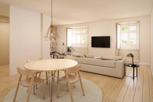 Imagem da Sala - zona de refeições: Salas de jantar modernas por Pedro Serrazina Studio