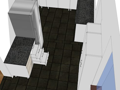 Design Pantry Area Mid Left:   by Boss Custom Kitchens (PTY)LTD