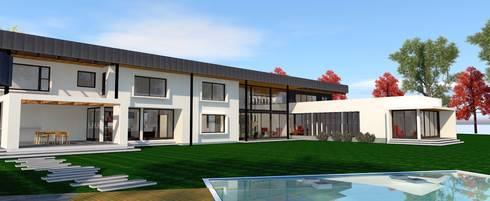 Casas de estilo minimalista por ARQvision Sustainable Architecture / FASTSTEEL