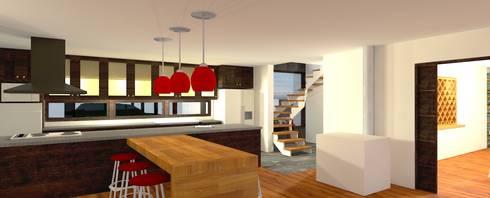 Cocinas de estilo minimalista por ARQvision Sustainable Architecture / FASTSTEEL