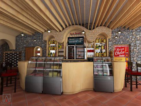 Vista frente de barra: Oficinas y tiendas de estilo  por PRISMA ARQUITECTOS
