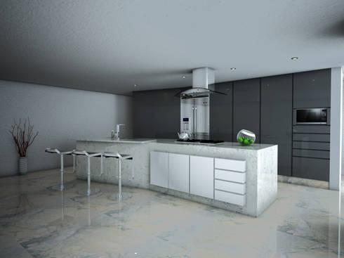 Vista Cocineta: Cocina de estilo  por PRISMA ARQUITECTOS