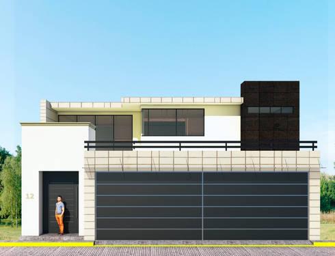 Fachada Principal: Casas de estilo moderno por PRISMA ARQUITECTOS
