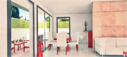 Interior comedor - desayunador: Casas de estilo moderno por PRISMA ARQUITECTOS