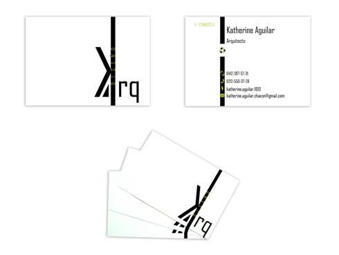 Tarjetas de prsentación: Arte de estilo  por Katherine Aguilar