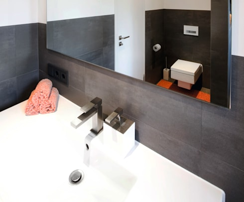badezimmer für meeresliebhaber: bodengleiche walk-in-dusche mit, Hause ideen