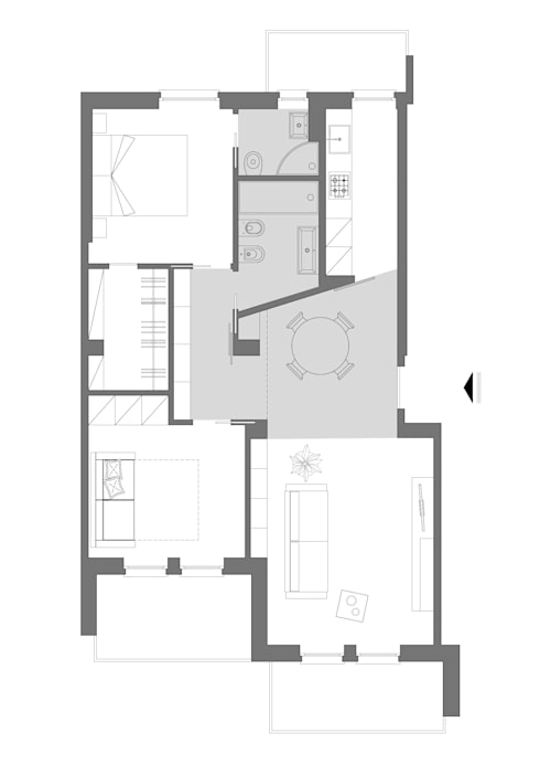 Casas de estilo minimalista por studio ferlazzo natoli