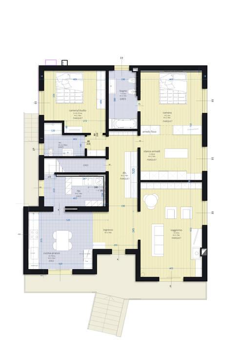 VV_LAD: Case in stile in stile Moderno di LAD studio