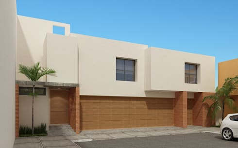 Fachada Principal: Casas de estilo minimalista por Constructora e Inmobiliaria Catarsis