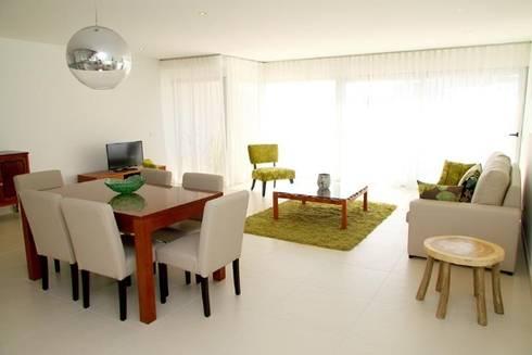 Villas Rocha 1: Salas de jantar ecléticas por Atelier  Ana Leonor Rocha