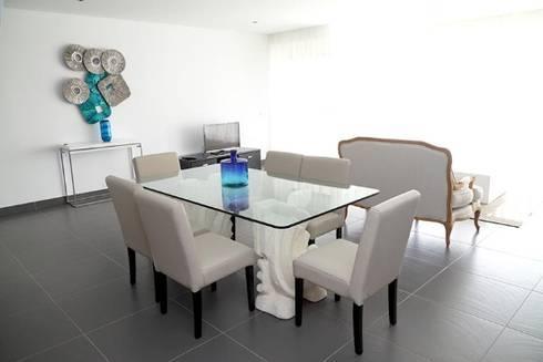 Villas Rocha 4: Salas de jantar ecléticas por Atelier  Ana Leonor Rocha