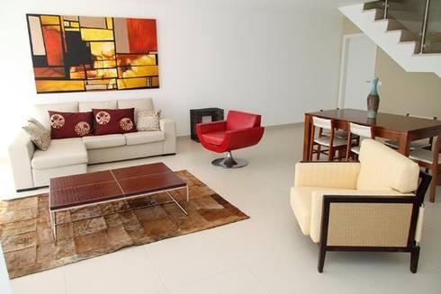Villas Rocha 5: Salas de estar ecléticas por Atelier  Ana Leonor Rocha