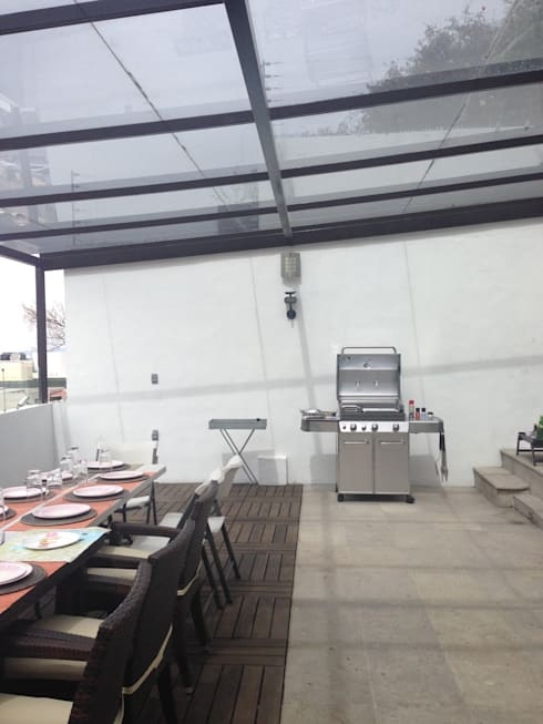Terraza Antes de Remodelar:  de estilo  por Alejandra Zavala P.