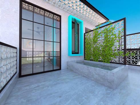 Terraza: Terrazas de estilo  por Hipercubo Arquitectura