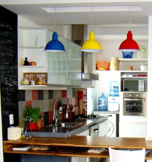 Cocinas de estilo  por BF Sustentabilidade, Arquitetura e Iluminação