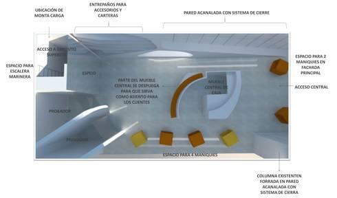 PLANTA DE DISTRIBUCIÓN: Espacios comerciales de estilo  por CelyGarciArquitectos c.a.