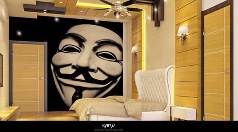 BEDROOM: modern Bedroom by KARU AN ARTIST