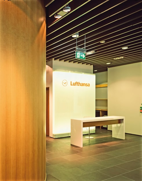 Lufthansa First Class Lounge, München:  Flughäfen von Heinrich Quirrenbach Naturstein Produktions- und Vertriebs GmbH