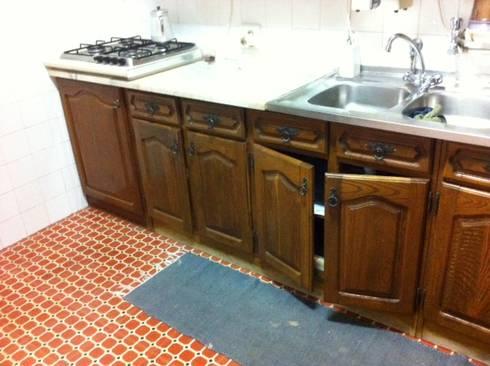 Antes FC 3: Cozinha  por Cozicentro Lda