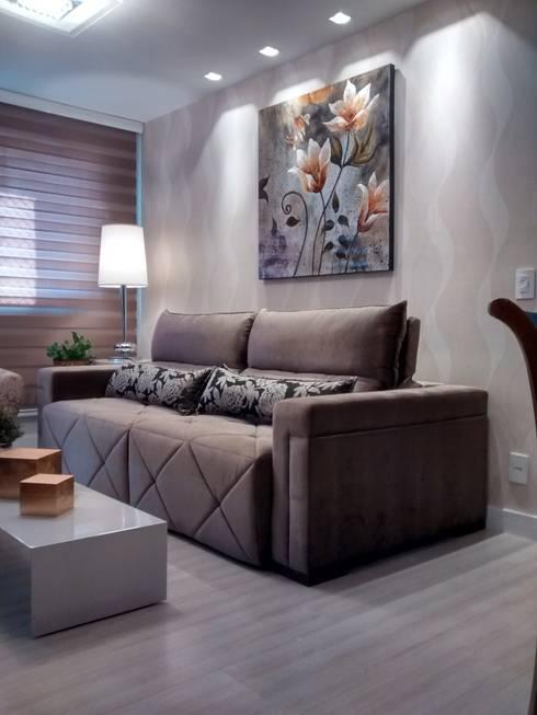 Salas de estar  por Mariana Von Kruger Emme Interiores