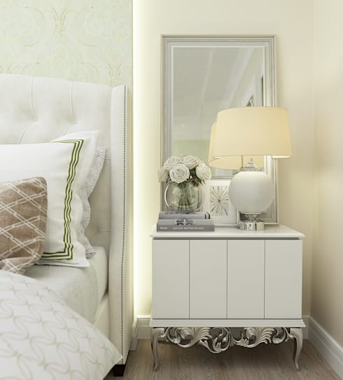 """Спальня """"Glamour"""": Спальни в . Автор – Студия дизайна Дарьи Одарюк"""