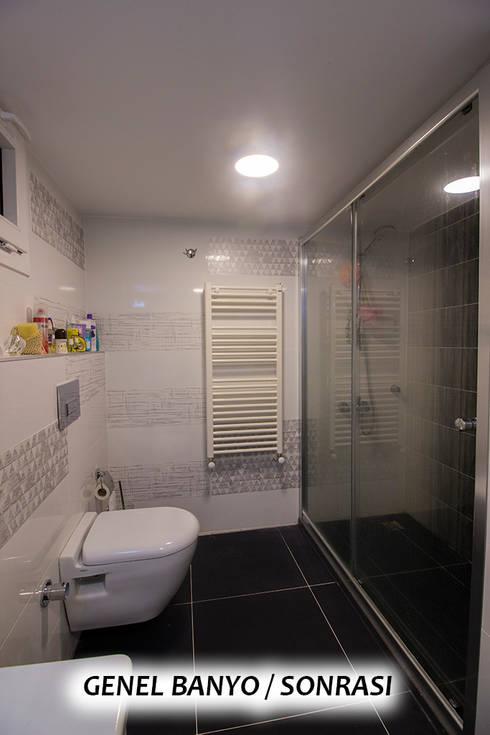 TEKNİK SANAT MİMARLIK LTD. ŞTİ. – Anahtar Teslim Konut Yenileme Projesi Toros / ADANA: modern tarz Banyo
