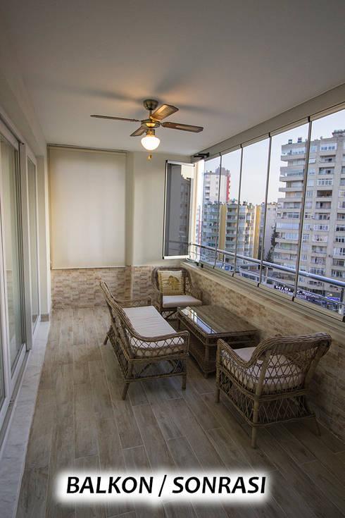 Terrace by TEKNİK SANAT MİMARLIK LTD. ŞTİ.