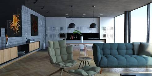 Propuesta interiores.: Comedores de estilo moderno por Eidética