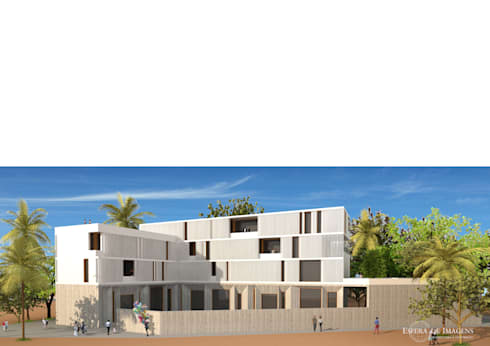 Edifício comercial e habitacional na Av. do Chaí — em Cabo Delgado, Pemba.:   por Esfera de Imagens Lda