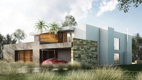 Casa racionalista ez en el barrio golf nordelta buenos for Casa minimalista 2018