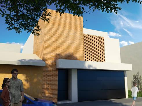 Casa San Jerónimo II: Casas de estilo moderno por Flores Rojas Arquitectura