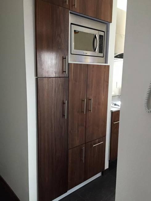 Distribución puertas alacena: Cocinas de estilo  por L&G Arquitectos