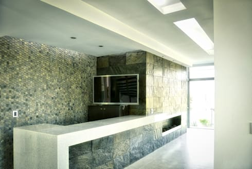 BAR Y CHIMENEA: Cavas de estilo minimalista por ArqCubo
