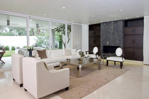 Casa LH: Salas de estilo moderno por IX2 arquitectura