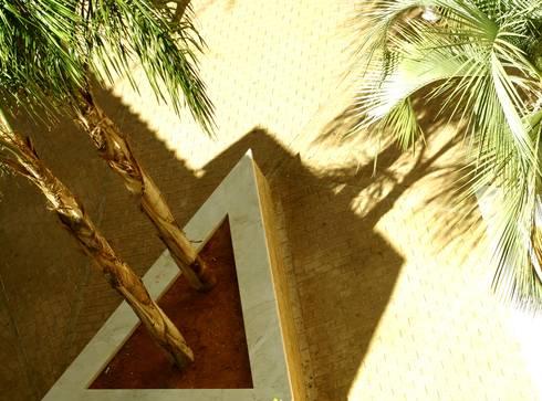 Vista aérea (detalle): Jardines de estilo mediterraneo por jesus rubio arquitectos