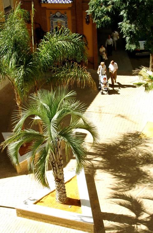 Vista aérea (conjunto) : Jardines de estilo mediterraneo por jesus rubio arquitectos