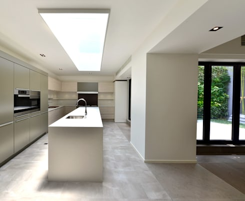 THE RIBBON HOUSE: minimalistic Kitchen by FAK3