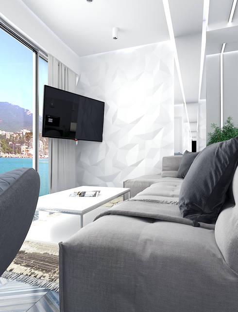 Солнечная квартира у моря: Окна и двери в . Автор – VITTA-GROUP
