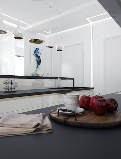 Солнечная квартира у моря: Кухня в . Автор – VITTA-GROUP