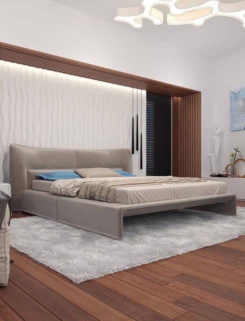 Солнечная квартира у моря: Спальни в . Автор – VITTA-GROUP