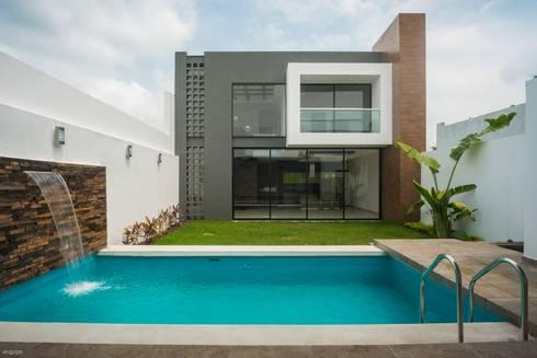 Casa ax4 de roka arquitectos homify for Casa minimalista con alberca