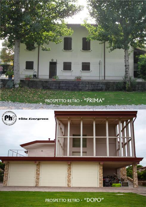 Villa Evergreen:  in stile  di Studio Ph09 (progress house)